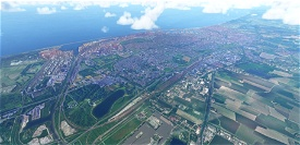 Dunkerque city, France Image Flight Simulator 2020