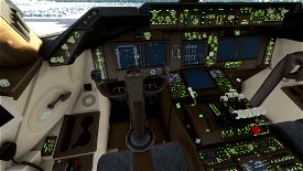 Lime Green B747 COCKPIT TEXTS EMISSIVE Image Flight Simulator 2020