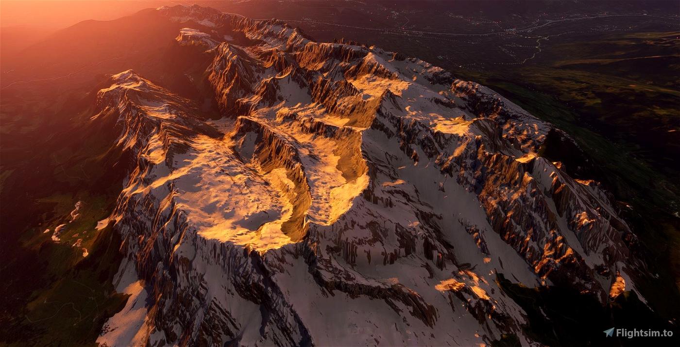 Mt. Säntis and Alpstein (Mountain Range) Switzerland