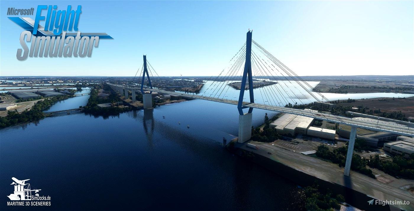 Köhlbrand Bridge - Hamburg Flight Simulator 2020