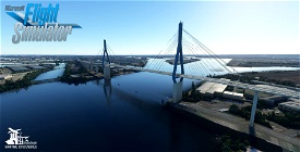 Köhlbrand Bridge - Hamburg Image Flight Simulator 2020