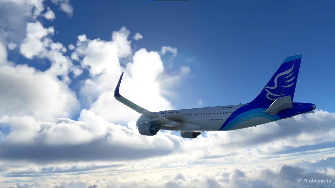 A320neo China Express B-320P Flight Simulator 2020