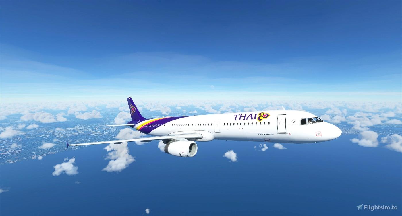 Airbus A321 Thai Airways Flight Simulator 2020