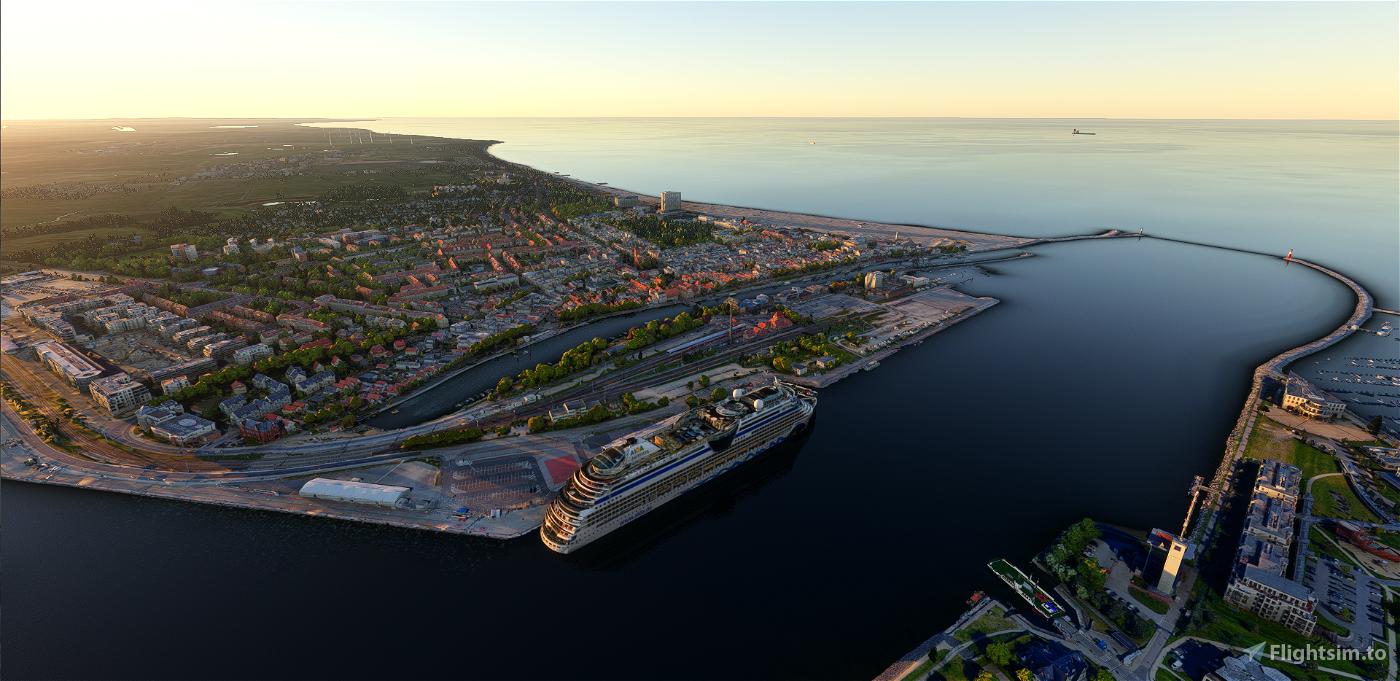 Warnemünde, Rostock, Rostock-Port, Hohe Düne & Helipads Flight Simulator 2020