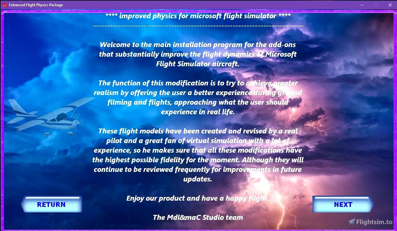 Enhanced Flight Physics Package