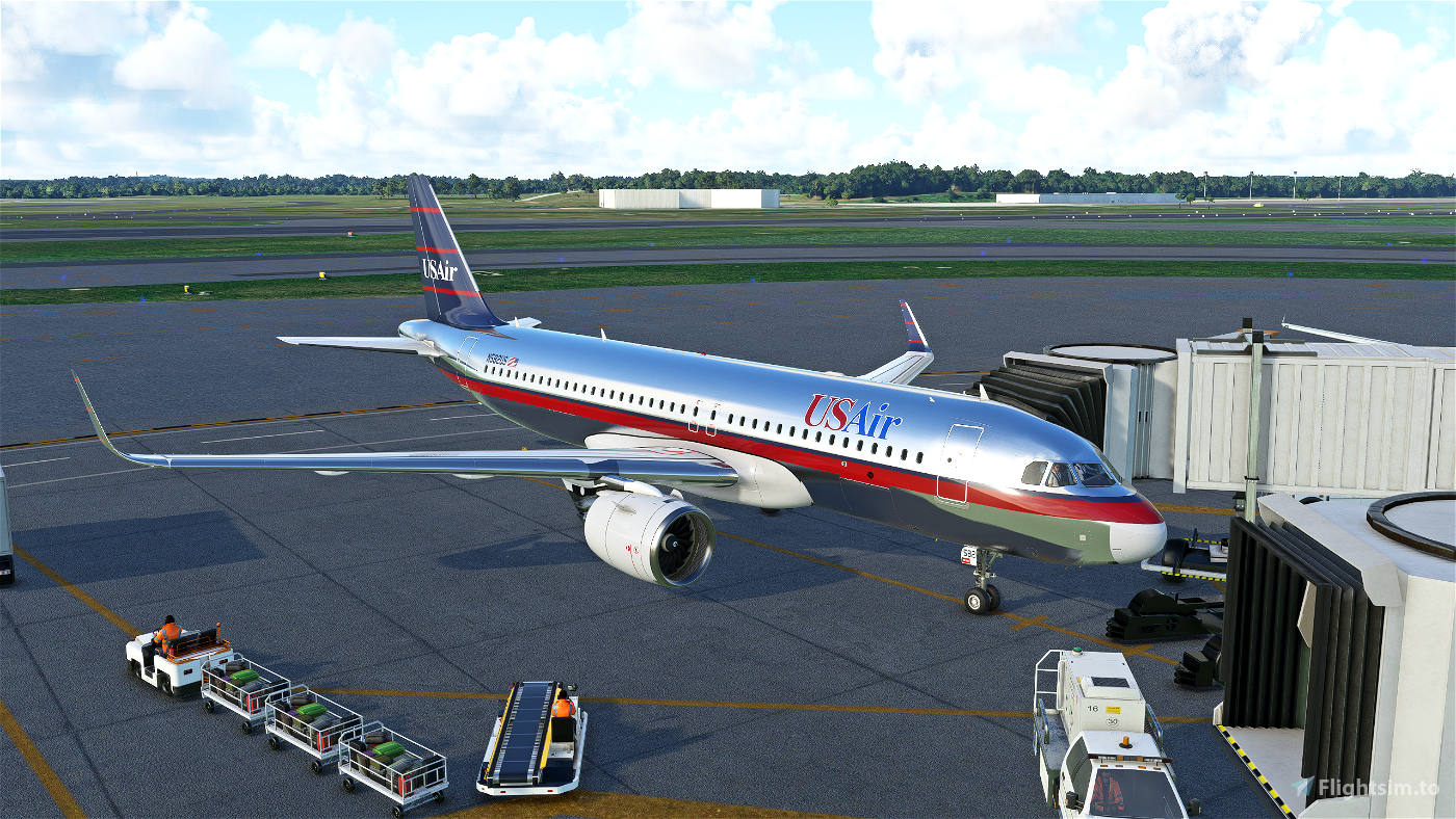 UsAir A320Neo (Silver Colors)