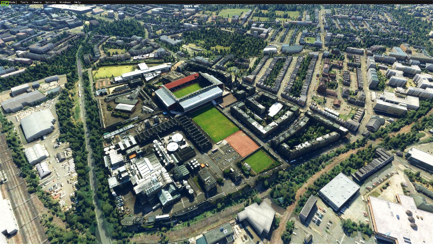By request Tynecastle Park football stadium, Edinburgh, Scotland Flight Simulator 2020