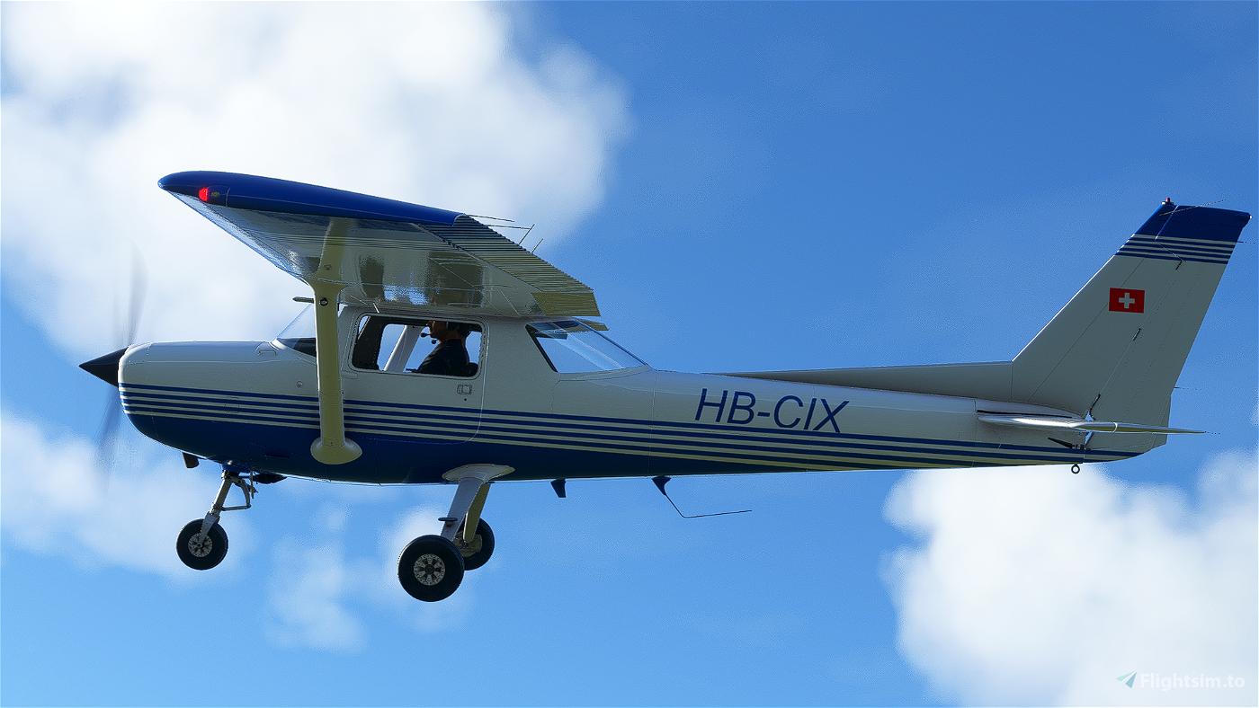 [4K] Cessna 152 HB-CIX livery