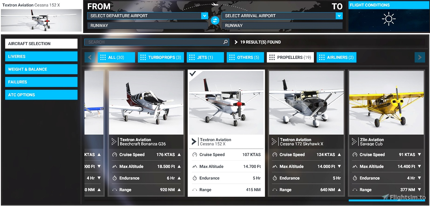 Cessna 152 flight model mod
