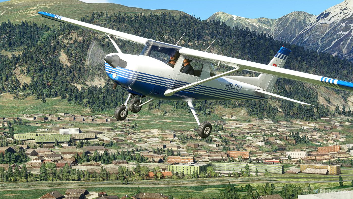 [4K] Cessna 152 HB-CIX livery Flight Simulator 2020