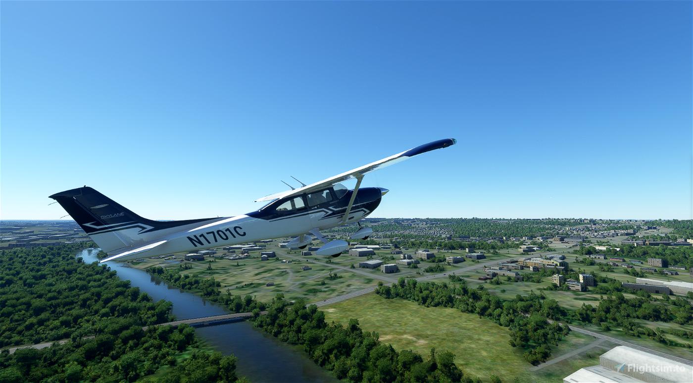 Cessna 182 Skylane Blue and Gray