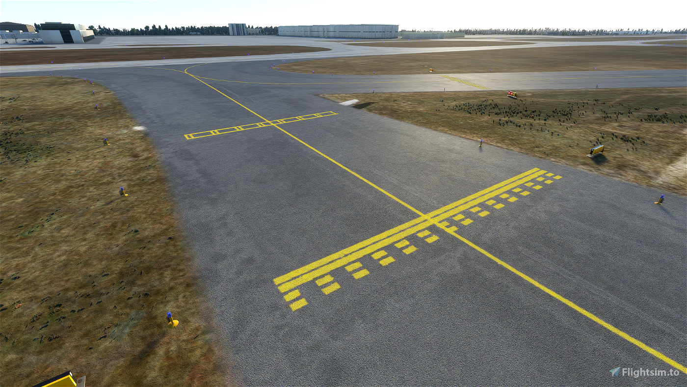 Very Simple Enhanced Airport Ground Texture Flight Simulator 2020