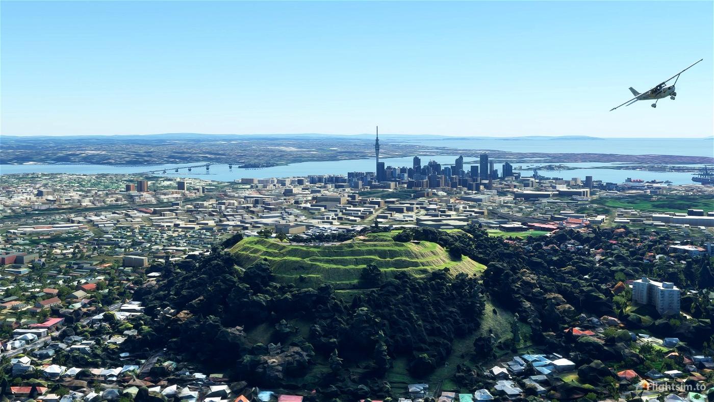 Mount Eden - Auckland, New Zealand Flight Simulator 2020