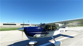 Cessna 182 Skylane Blue and Gray Image Flight Simulator 2020
