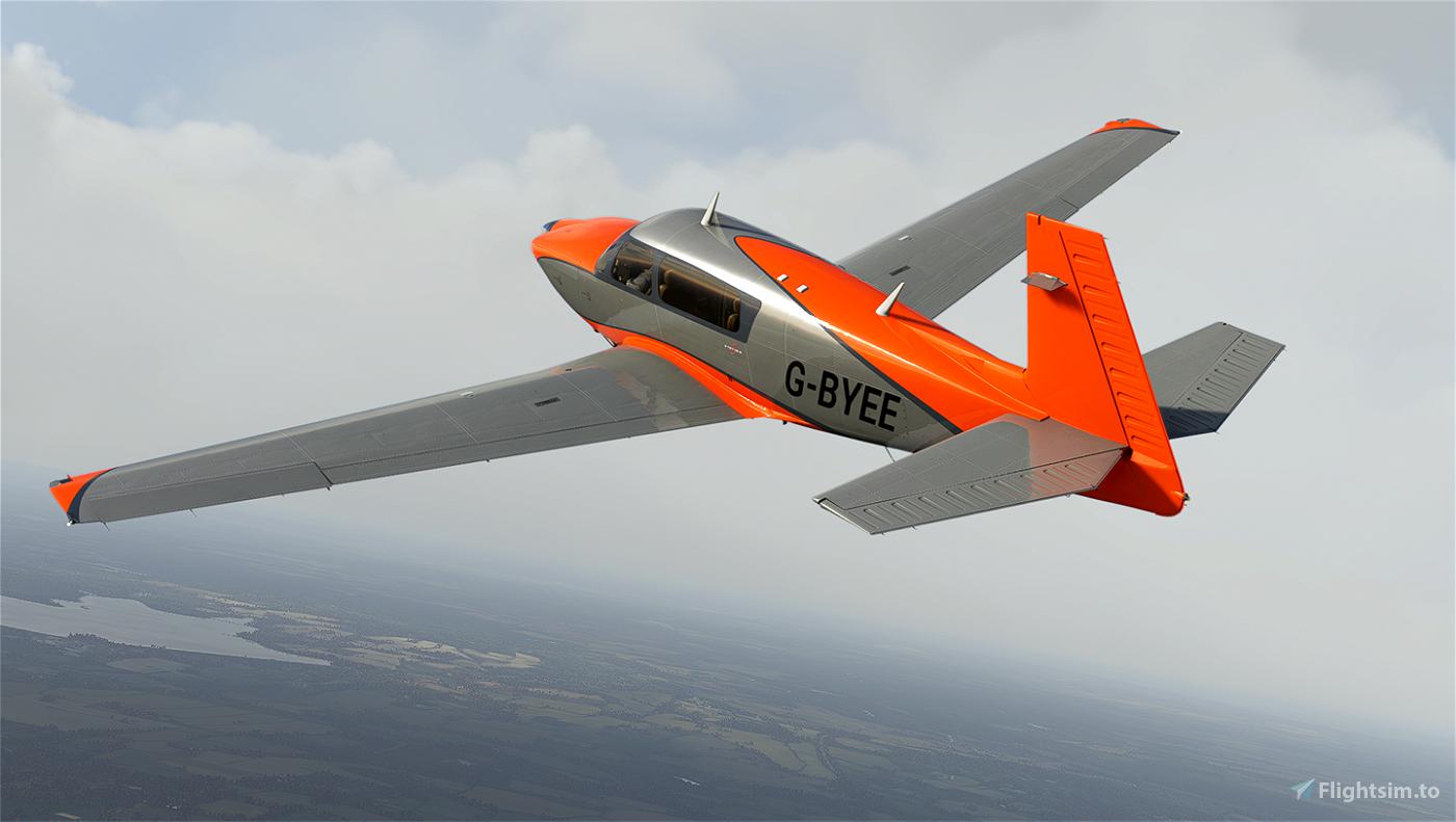 Metallic Orange Livery for Carenado Mooney Flight Simulator 2020