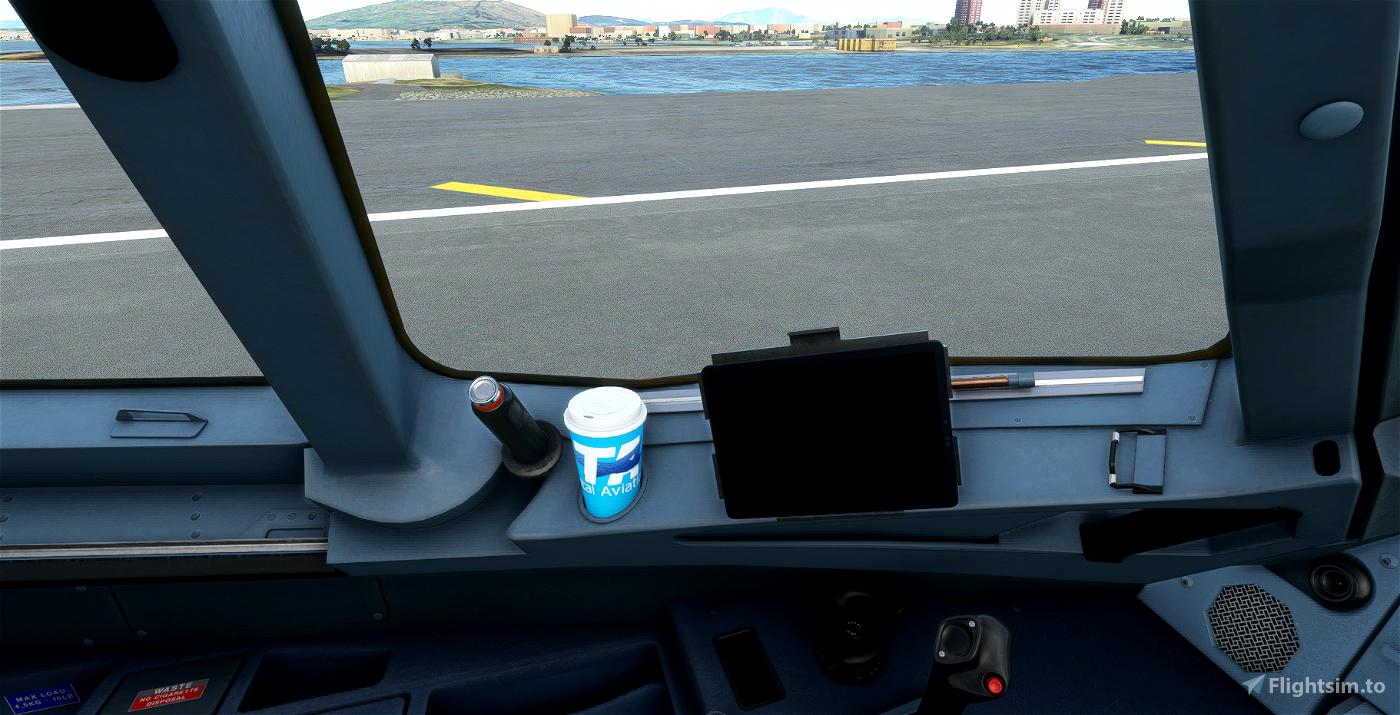 Total Aviation Coffee cup a32nx Flight Simulator 2020