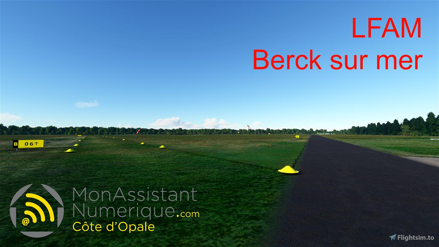 Berck sur mer (LFAM and landmarks  - compatible with France VFR)