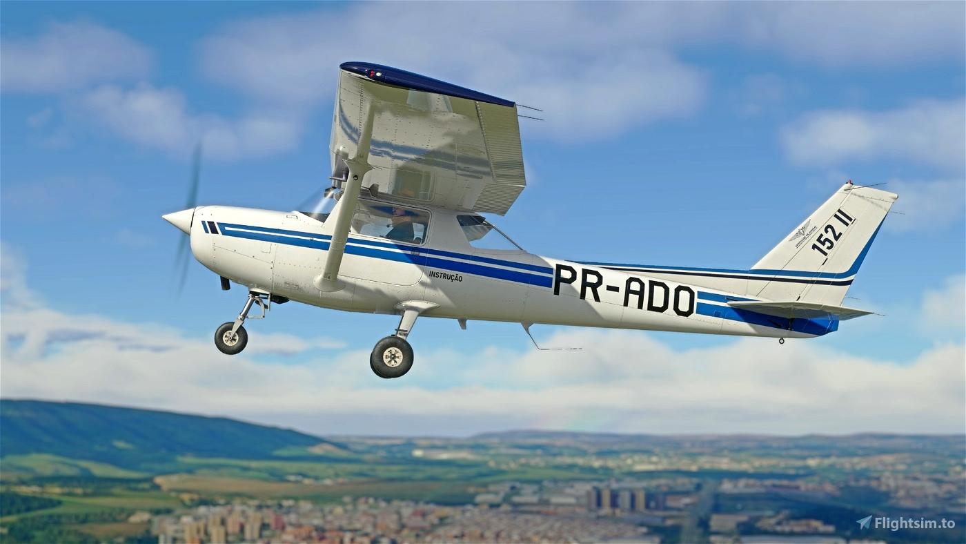 C152 - Aeroclube de Jundiaí - PR-ADO Livery 4K Flight Simulator 2020