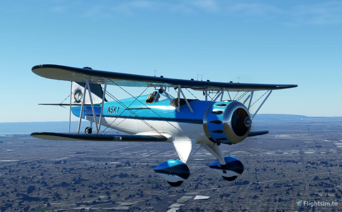 Carenado WACO YMF-5 in the SkyLounge colours