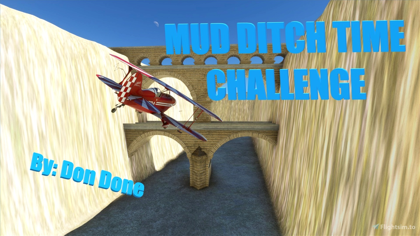 Mud Ditch Time Challenge (Nevada) Flight Simulator 2020