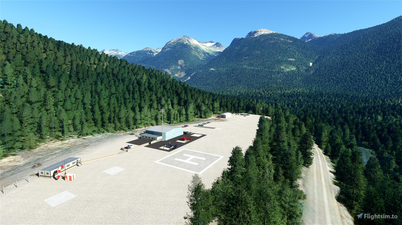 Whistler Blackcomb Heliport & Whistler Hospital Helipad - CBE9 & CAW4 Flight Simulator 2020