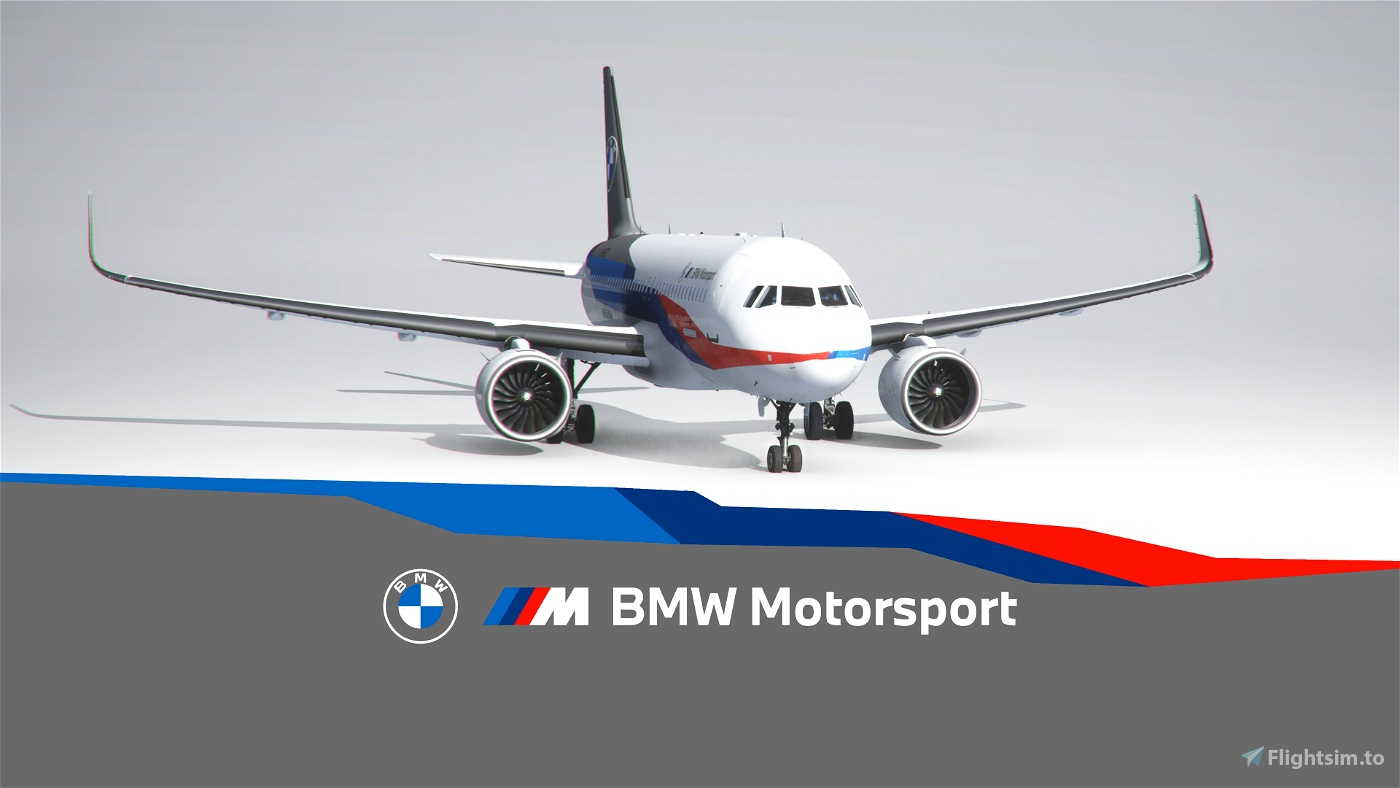 BMW M Motorsport A320 NEO Livery Flight Simulator 2020