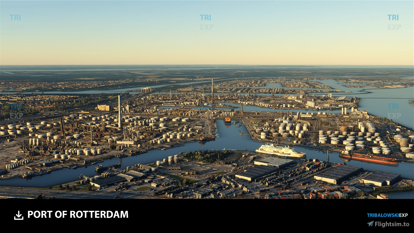 Port of Rotterdam Flight Simulator 2020