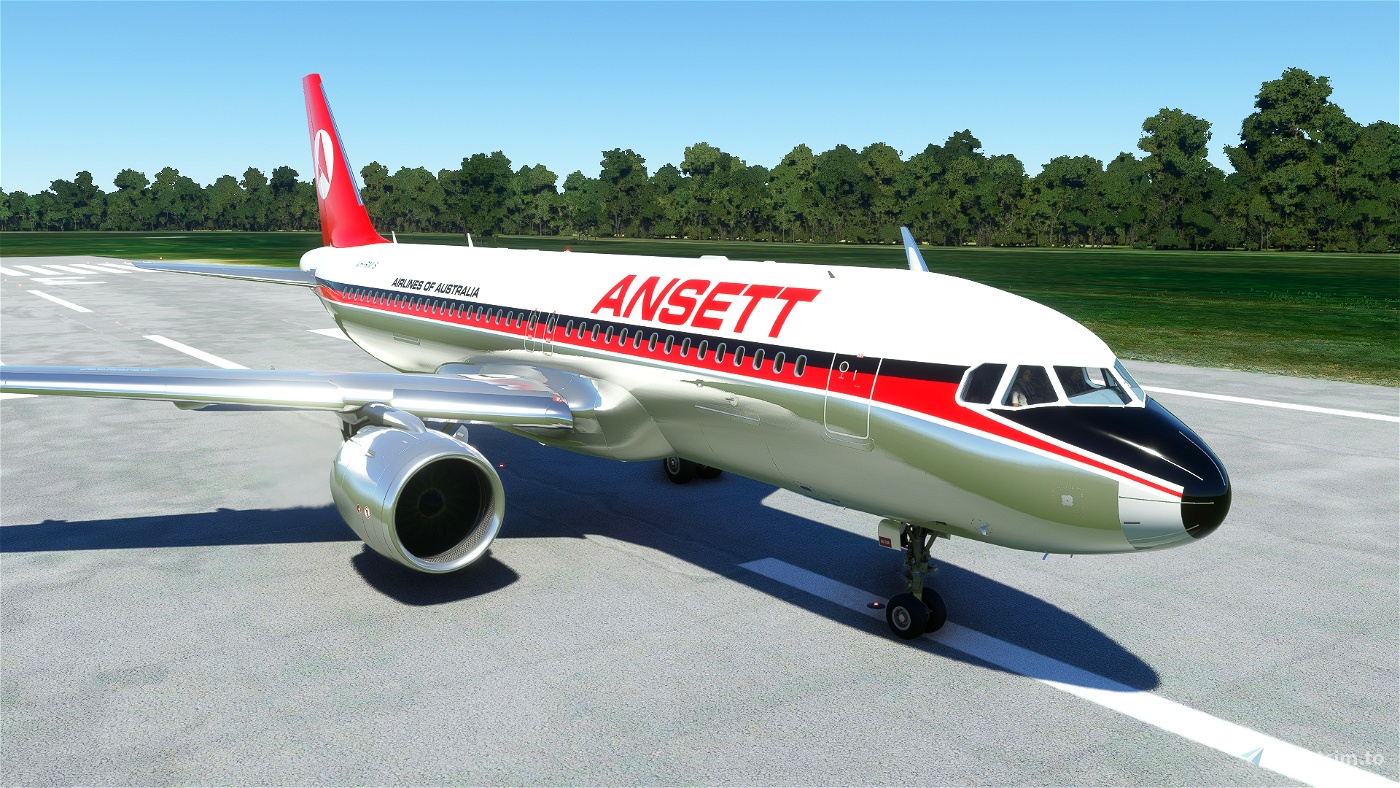 A320NEO Ansett VH-RMS Flight Simulator 2020
