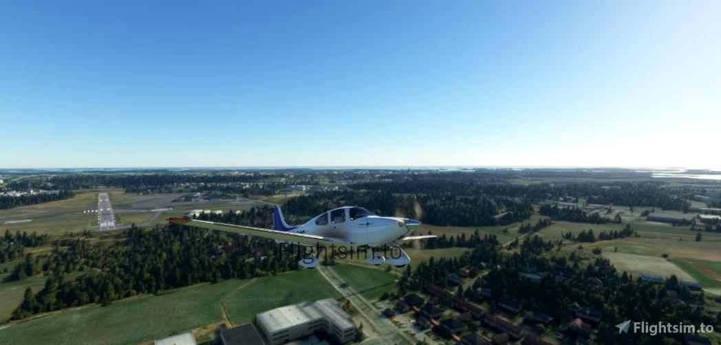 Cirrus SR22 OH-GSC Patria Pilot Training Flight Simulator 2020