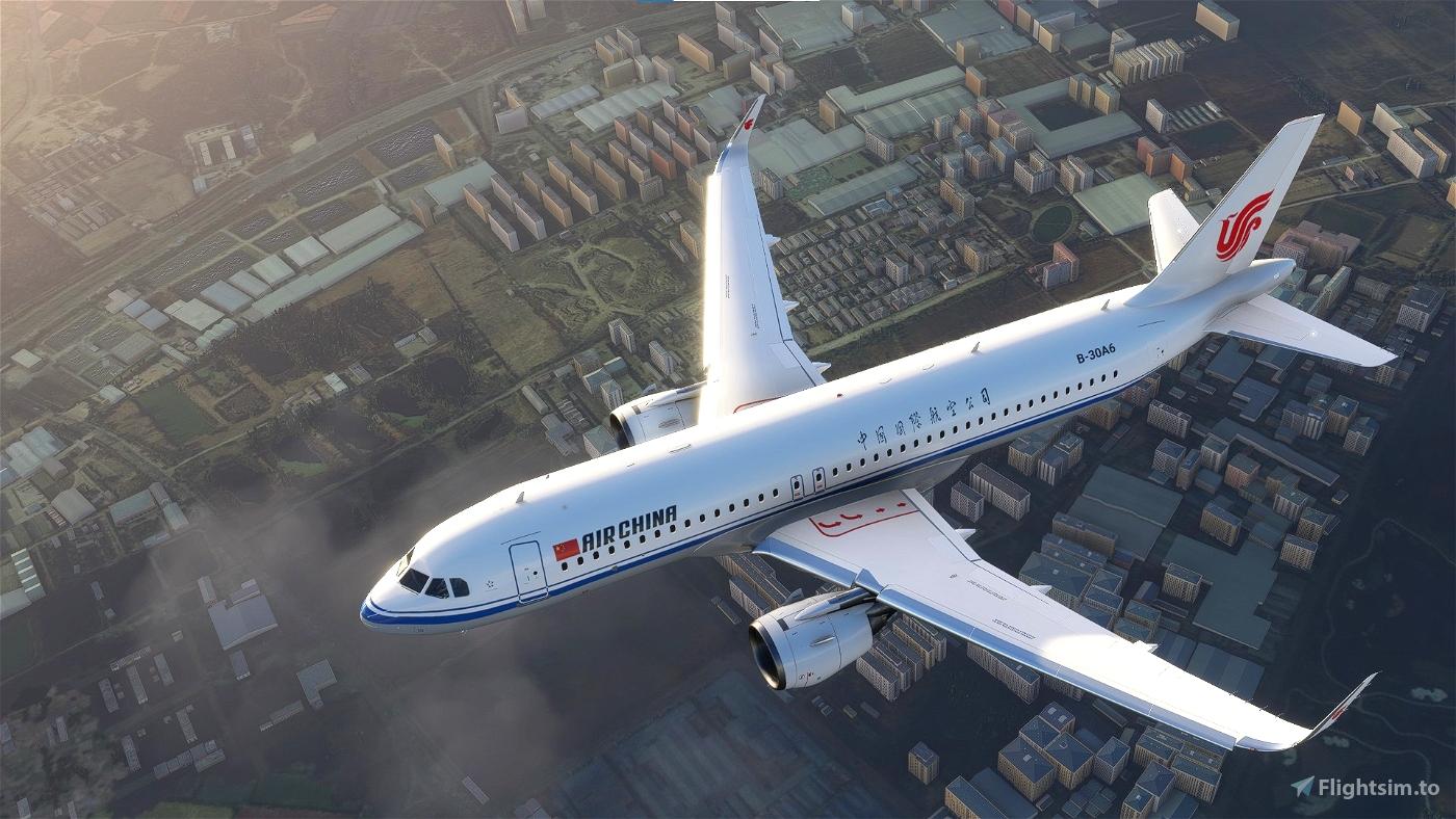 8K A320neo Air China B-30A6  Flight Simulator 2020