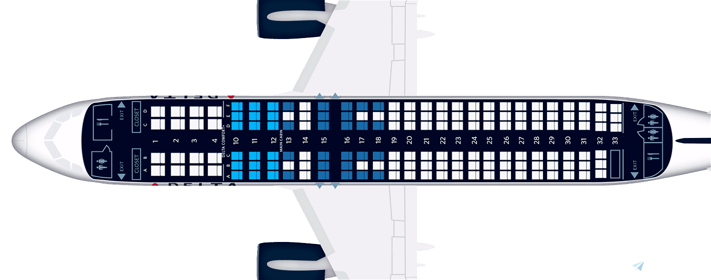 Delta A320 CabinLayout for SLC Flight Simulator 2020