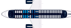 Delta A320 CabinLayout for SLC Image Flight Simulator 2020