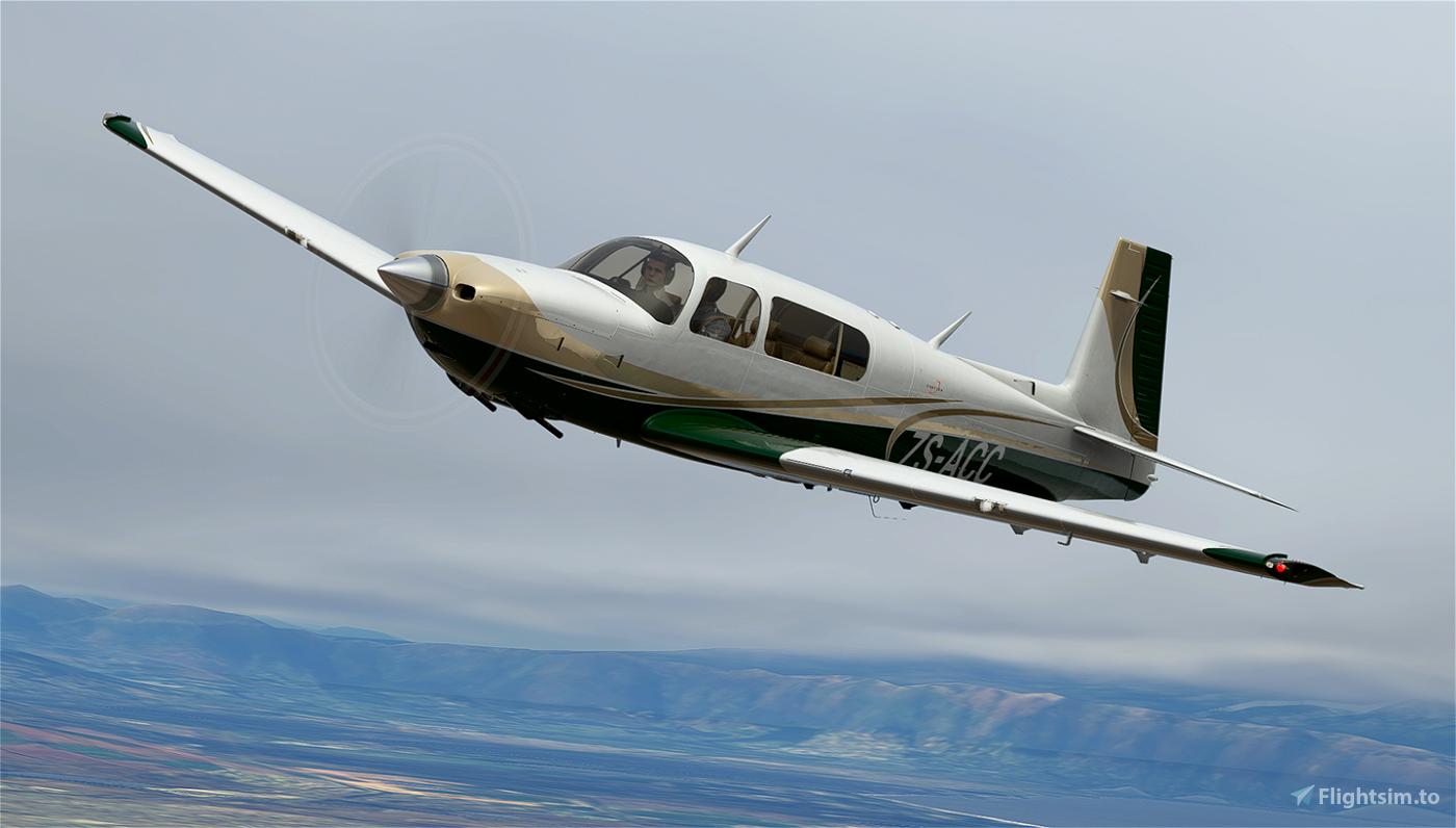 Champagne and Green Livery for Carenado Mooney Flight Simulator 2020