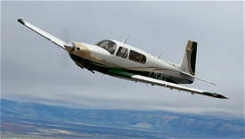 Champagne and Green Livery for Carenado Mooney Image Flight Simulator 2020