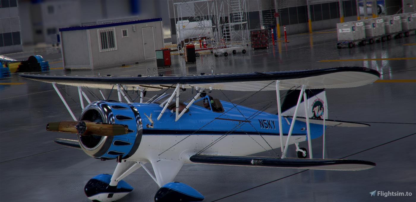Carenado WACO YMF-5 in the SkyLounge colours Flight Simulator 2020