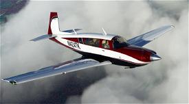 Slate Red (Inverted) Livery for Carenado Mooney Image Flight Simulator 2020