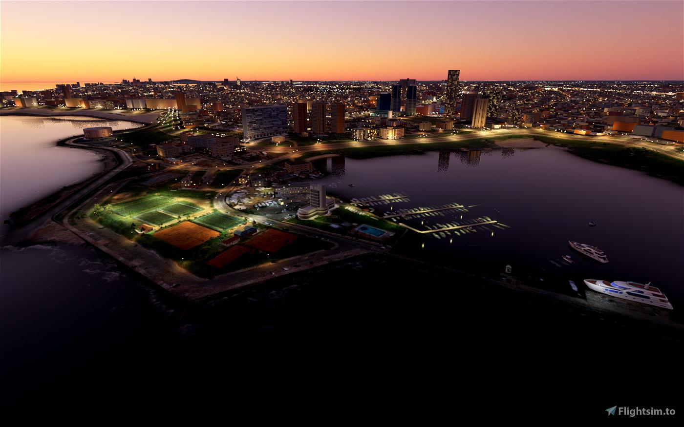 Yacht Club y Oceanográfico  Rambla Buceo Flight Simulator 2020
