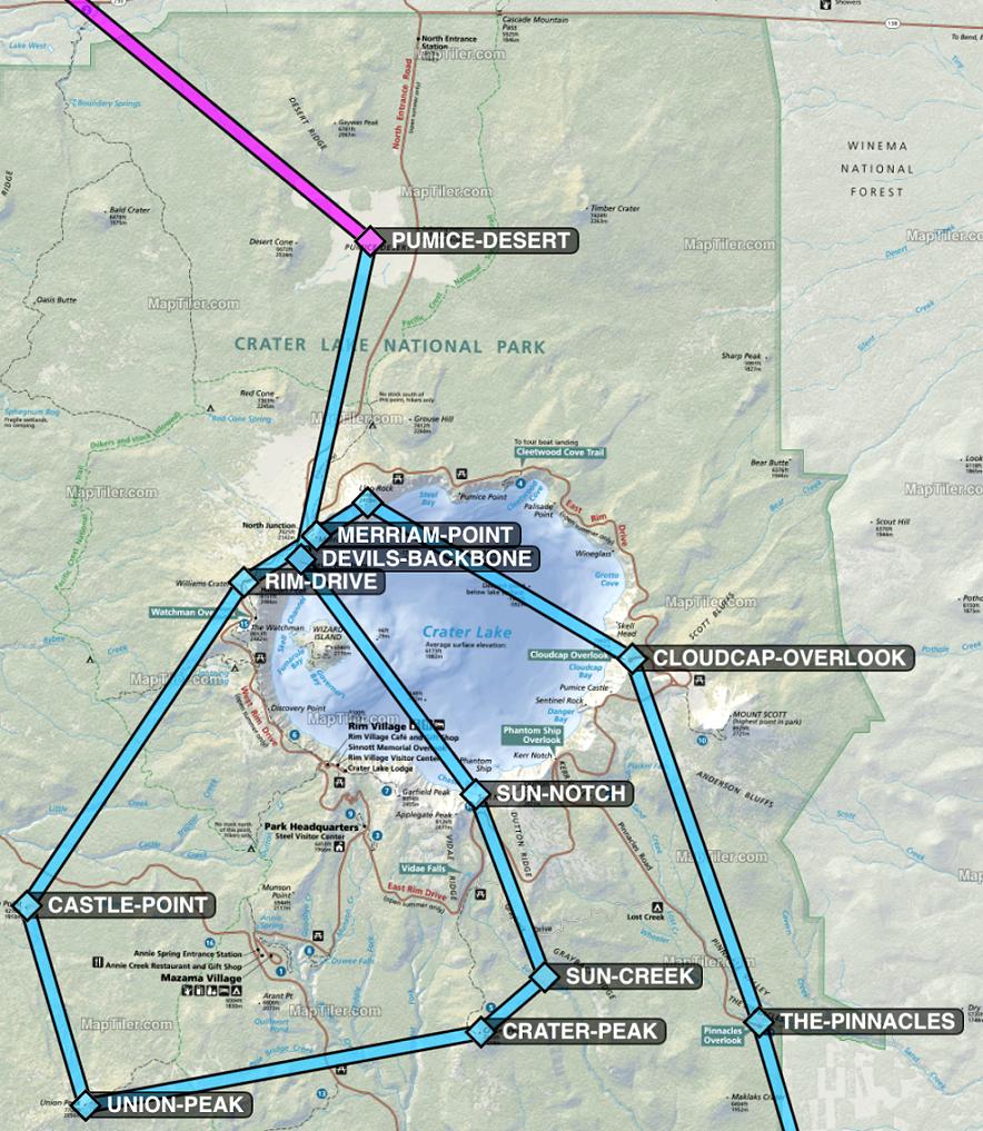 Crater Lake National Park Flight Plan