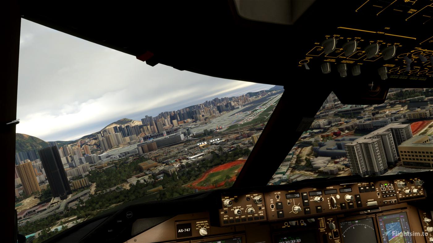 Kai Tak (VHHX) crosswind landing challenge Flight Simulator 2020