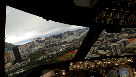 Kai Tak (VHHX) crosswind landing challenge Image Flight Simulator 2020