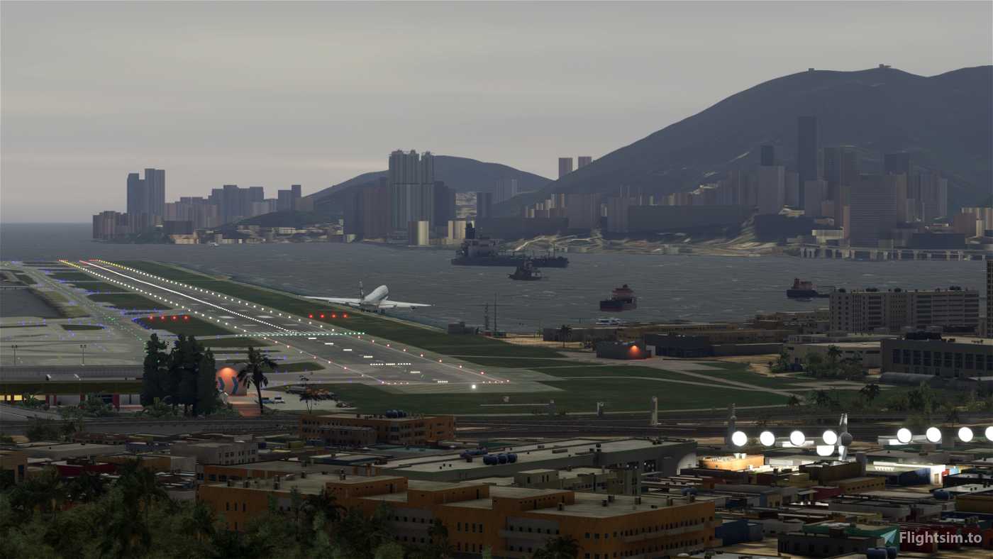 Kai Tak (VHHX) crosswind landing challenge