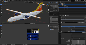 ATR72-600 Blender Model (simplified) Image Flight Simulator 2020