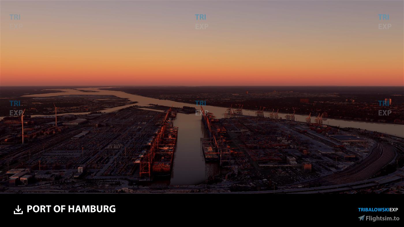 Port of Hamburg Flight Simulator 2020
