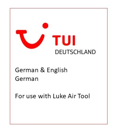 LukeAir Tool - Announcements - TUI [German/English] Flight Simulator 2020