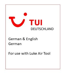 LukeAir Tool - Announcements - TUI [German/English] Image Flight Simulator 2020