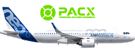 PACX - A320neo - 150 Pax / 3-Class Cabin Layout Image Flight Simulator 2020
