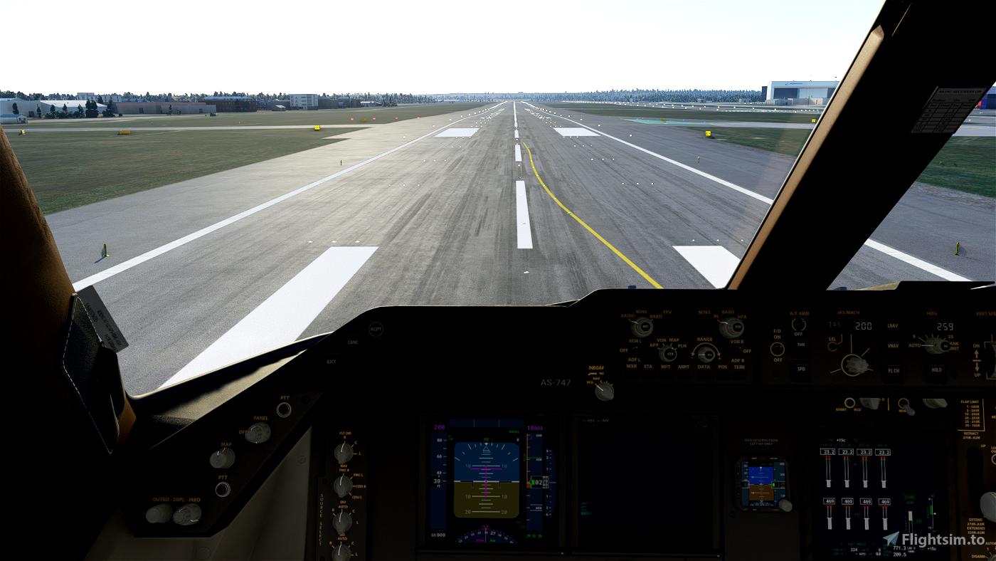 Boeing 747-8i Wing + Cockpit Cameras