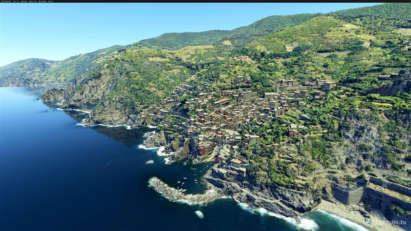 Cinque Terre, Liguria, Italy Flight Simulator 2020