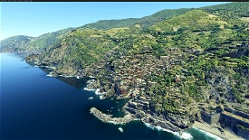 Cinque Terre, Liguria, Italy Image Flight Simulator 2020