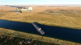 Ever Given Landmark , Canal de Suez. Image Flight Simulator 2020